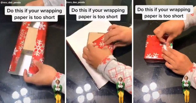 Christmas wrapping hack