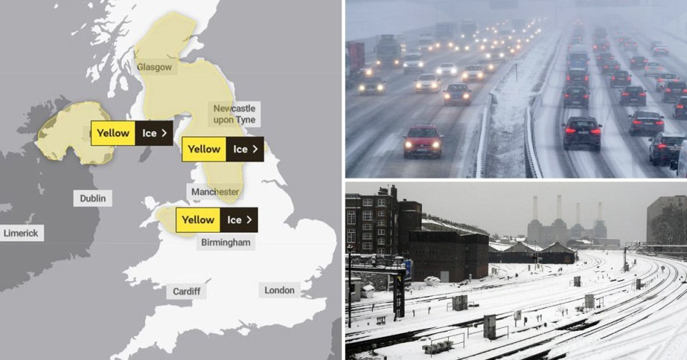 Get ready for heavy snow as temperatures plummet to -8C
