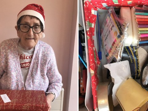 World's sweetest grandmother fills 500 shoeboxes with Christmas presents for people in need