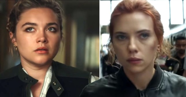 Florence Pugh and Scarlett Johansson in Black Widow