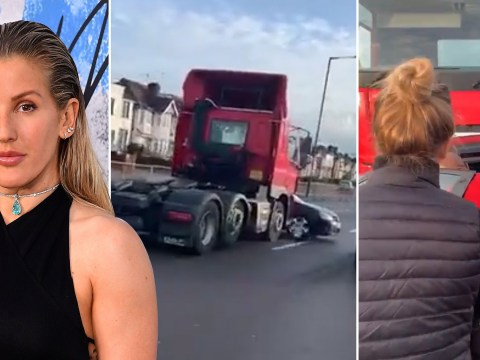 Hero Ellie Goulding first on scene to rescue driver dragged down busy road by lorry