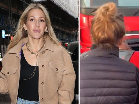 Ellie Goulding gets straight back to work after rescuing driver being dragged by lorry