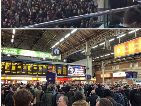 Chaos at Victoria Station after major signal failure