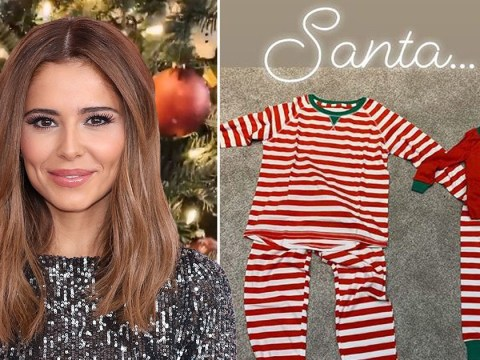 Cheryl shows off adorable matching pyjamas with son Bear, 2, as she decks out home for Christmas