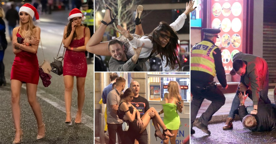 Mad Friday mayhem sees Brits brawl on the streets in booziest night of the year