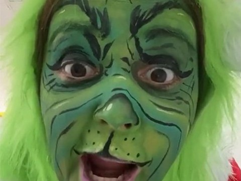 I'm A Celebrity's Jacqueline Jossa 'keeps the kids entertained' at Christmas with iconic Grinch transformation