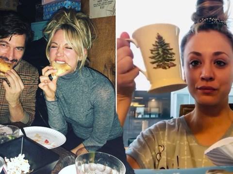 The Big Bang Theory's Kaley Cuoco 'definitely partied too hard' as she struggles through hangover
