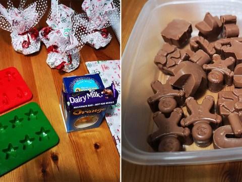 Mum makes last-minute Christmas chocolate presents using Poundland ice cube trays