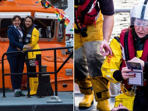 Wedding interrupted after lifeboat volunteer bride is called out on emergency
