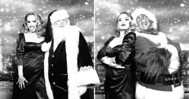 Adele looks super glamorous at her Christmas party (Picture: @adele)