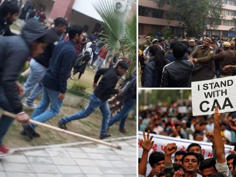 Student 'fears for life' after being attacked during anti-government protest in India