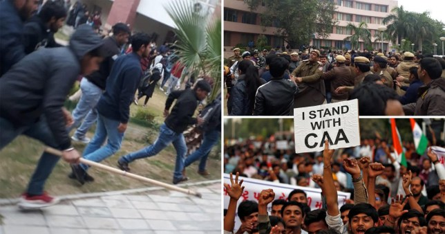 Students at several universities in India have been involved in clashes after protesting against a citizenship law