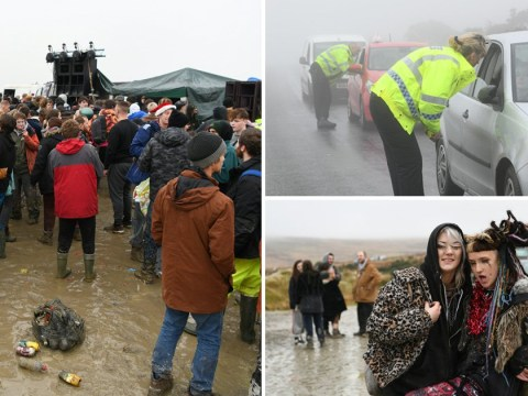 Police shut down illegal countryside rave after more than 24 hours