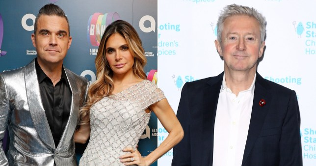 Robbie Williams and Ayda Field; Louis Walsh