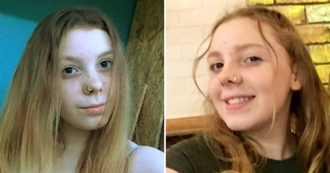 Caitlin Wright, 14, was last seen near a Primark in Coopers Square, Burton-upon-Trent, Staffordshire at 11.30am on Sunday.