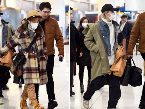 BTS fly in style as they land in New York ahead of NYE performance