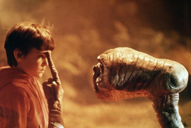 A still from E.T.