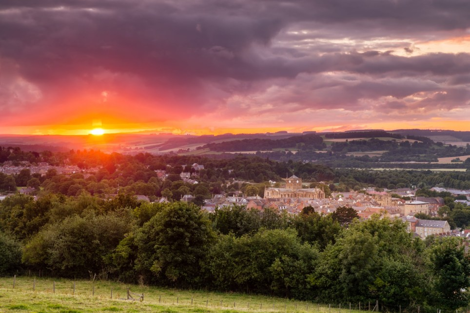 The historic Market Town of Hexham sits in the Tyne Valley in Northumberland. The skyline is dominated by the Abbey
