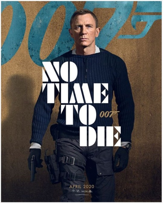 James Bond in the No Time to Die poster