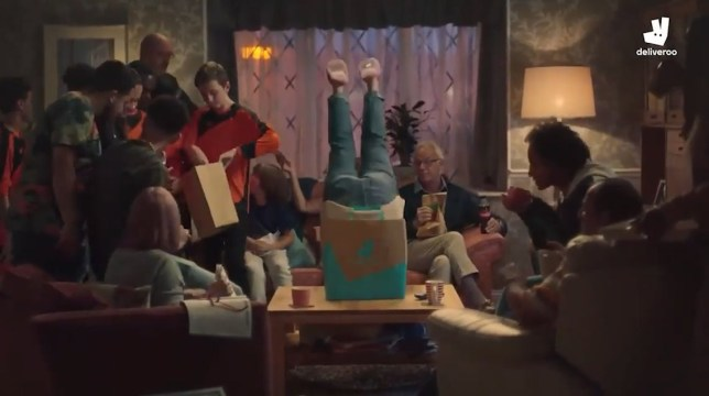 Screenshot of Deliveroo advert banned in December 2019