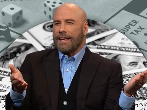 Of course John Travolta plays Monopoly with real money