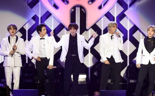 Mandatory Credit: Photo by John Salangsang/REX (10492962a) BTS KIIS-FM iHeartRadio Jingle Ball, Show, The Forum, Los Angeles, USA - 06 Dec 2019