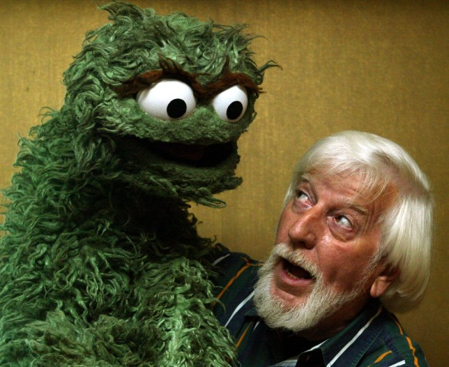 Caroll Spinney, aka Big Bird on Sesame Street is coming out with his new book The Wisdom of Big Bird. Pic. shows him with partner Grouch. (Photo by Lawrence K. Ho/Los Angeles Times via Getty Images)