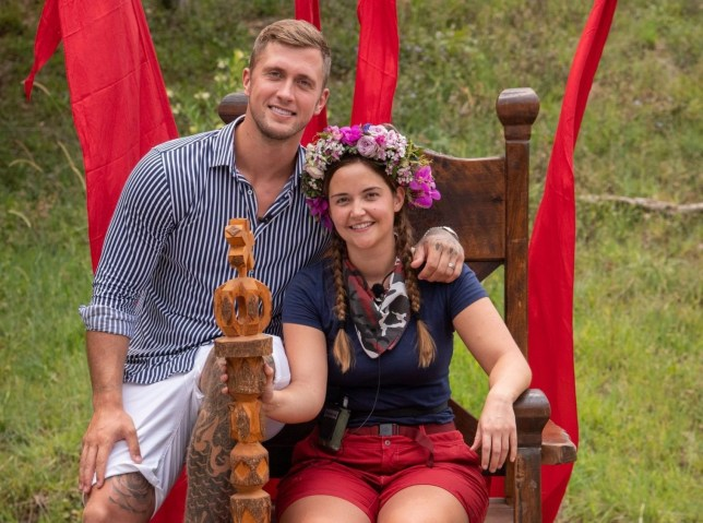 Premium Rates Apply. Contact your account manager for pricing. Editorial use only Mandatory Credit: Photo by James Gourley/ITV/REX (10495122ao) Queen of the Jungle, Jacqueline Jossa with husband Dan Osborne 'I'm a Celebrity... Get Me Out of Here!' TV Show, Series 19, Australia - 09 Dec 2019