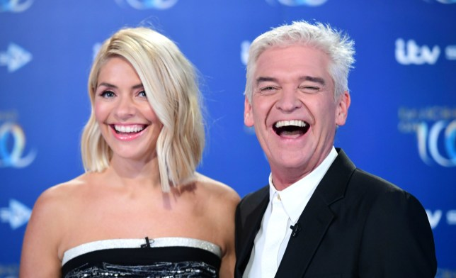 Holly Willoughby (left) and Phillip Schofield attending the launch of Dancing On Ice 2020, held at Bovingdon Airfield, Hertfordshire. PA Photo. Picture date: Monday December 9, 2019. See PA story SHOWBIZ Ice. Photo credit should read: Ian West/PA Wire.
