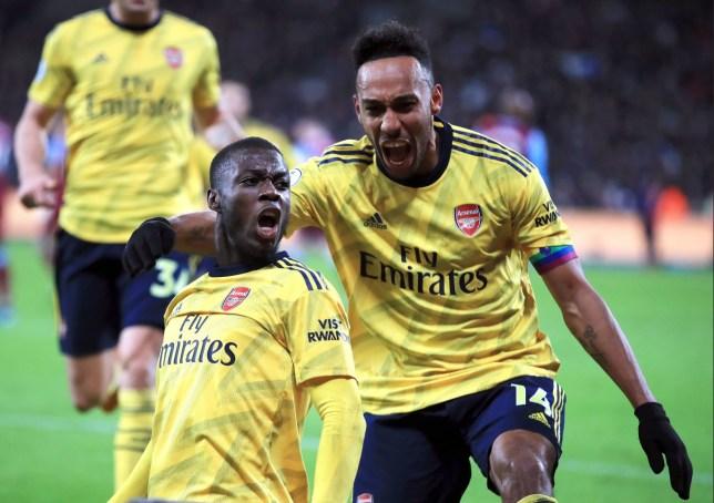Nicolas Pepe inspired Arsenal's comeback against West Ham