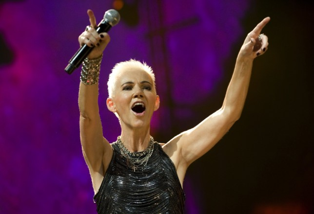 Roxette's Marie Fredriksson on stage performing