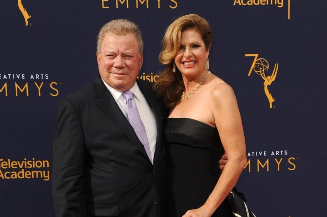 Mandatory Credit: Photo by Startraks Photo/REX (9877404ev) William Shatner and wife Elizabeth Shatner Creative Arts Emmy Awards, Arrivals, Los Angeles, USA - 08 Sep 2018 Stand Up To Cancer Benefit 2018