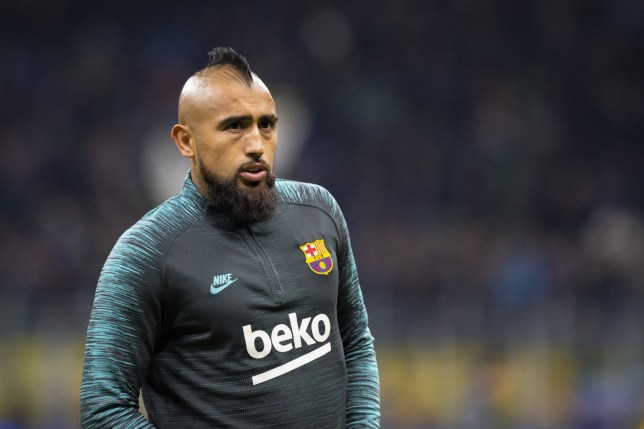 Arturo Vidal is set to start on the bench for Barcelona's clash with Real Madrid