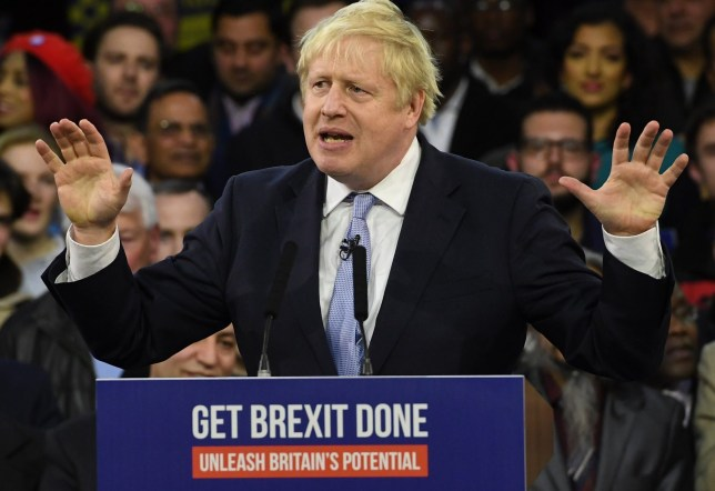 Boris Johnson said the election was getting 'tighter and tighter' (Picture: EPA)