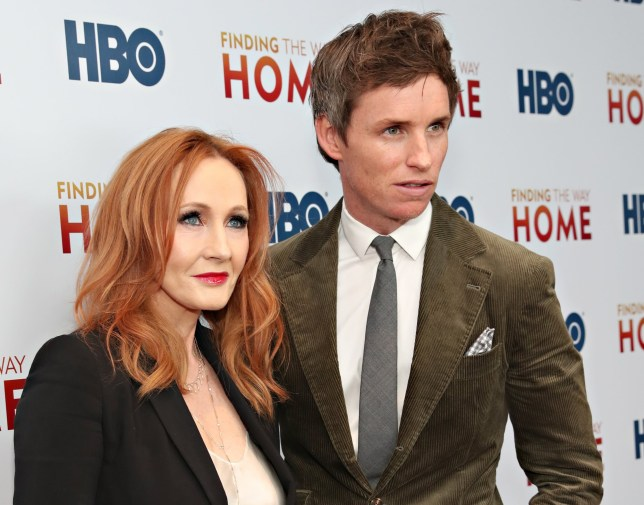"""NEW YORK, NY - DECEMBER 11: J.K. Rowling and Eddie Redmayne attend HBO's """"Finding The Way Home"""" World Premiere at Hudson Yards on December 11, 2019 in New York City. (Photo by Cindy Ord/WireImage,)"""