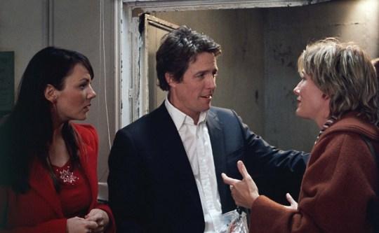 Love Actually scene with Martine Mccutcheon, Hugh Grant, Emma Thompson.