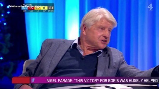 Boris Johnson's dad on burkas and a professor doing sex positions lead Channel 4 election coverage Stanley Johnson Picture: Channel 4 METROGRAB