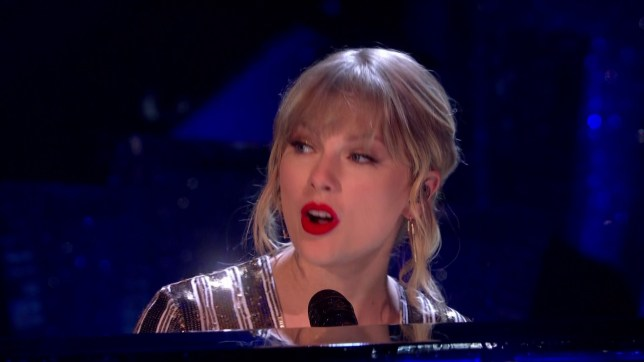 Taylor Swift performs during Strictly Come Dancing Final 2019 (Picture: BBC)
