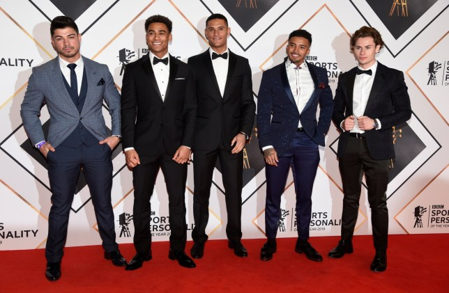 BGUK_1817248 - Aberdeen, UNITED KINGDOM - Love Island Lads Anton,Jordan,Danny,Michael,Joe Sports Personality Of The Year 2019 in Aberdeen Pictured: Love Island Lads BACKGRID UK 15 DECEMBER 2019 BYLINE MUST READ: FARRELL / BACKGRID UK: +44 208 344 2007 / uksales@backgrid.com USA: +1 310 798 9111 / usasales@backgrid.com *UK Clients - Pictures Containing Children Please Pixelate Face Prior To Publication*