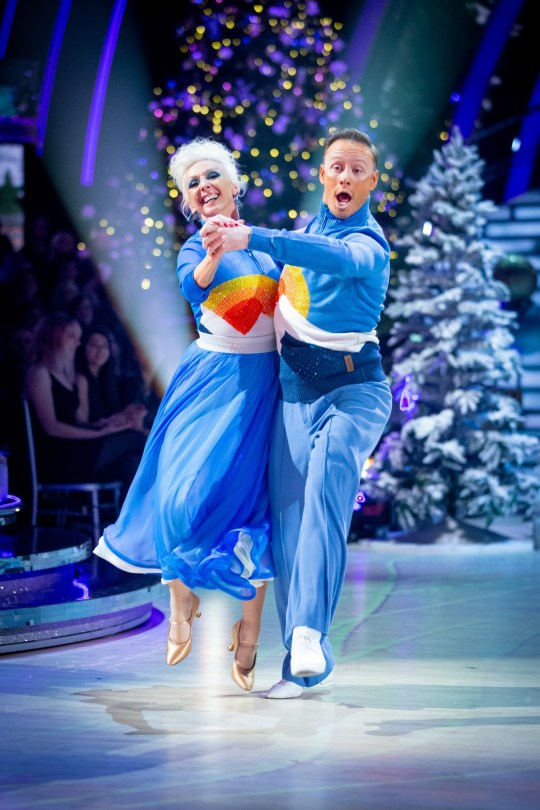 WARNING: Embargoed for publication until 00:00:01 on 17/12/2019 - Programme Name: Strictly Come Dancing - Christmas Special 2019 - TX: n/a - Episode: Strictly Come Dancing - Christmas Special 2019 (No. n/a) - Picture Shows: *STRICTLY NOT FOR PUBLICATION UNTIL 00:01HRS, TUESDAY 17TH DECEMBER, 2019* Debbie McGee, Kevin Clifton - (C) BBC - Photographer: Guy Levy