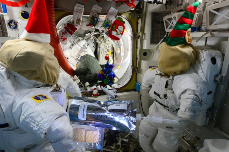 Christmas in International Space Station (Picture: Terry Virts)
