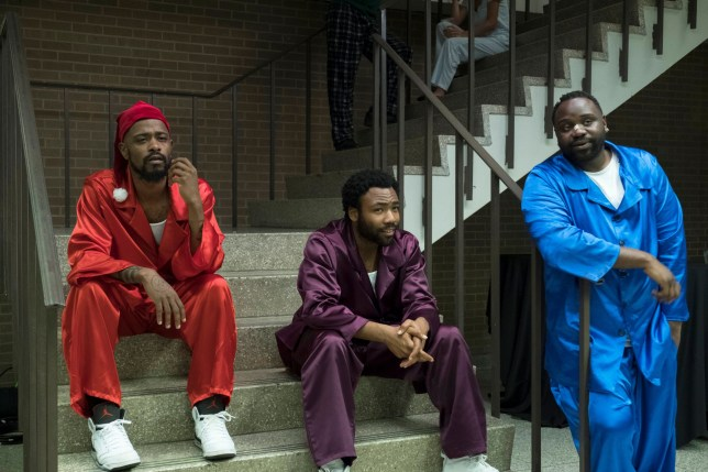 Editorial use only. No book cover usage. Mandatory Credit: Photo by FX/Kobal/REX (10349589an) Lakeith Stanfield as Darius, Donald Glover as Earnest Marks and Brian Tyree Henry as Alfred Miles 'Atlanta' TV Show Season 2 - 2018 Based in Atlanta, Earn and his cousin Alfred try to make their way in the world through the rap scene. Along the way they come face to face with social and economic issues touching on race, relationships, poverty, status, and parenthood.