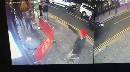 Watch man pull gun on bouncers in Glasgow
