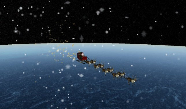 Track Santa Claus live as he delivers presents around the world