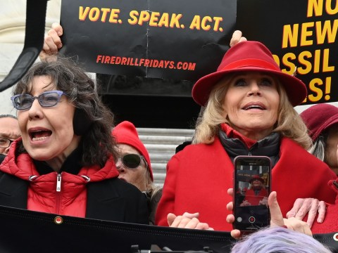 Grace And Frankie's Lily Tomlin arrested during climate change protest