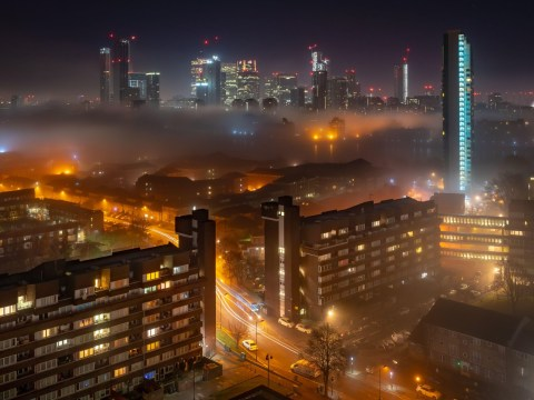 London looks strangely beautiful as thick fog lies across capital city