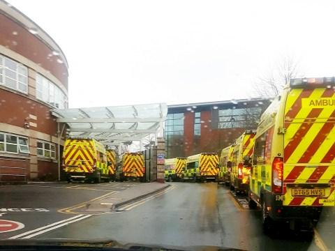 Queue of 23 ambulances wait to get into overstretched A&E