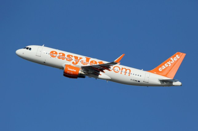 BARCELONA, SPAIN - DECEMBER 11: An easyJet Airbus A320 taking off on December 11, 2014 in Barcelona. EasyJet is a British airline with its headquarters near London and some 240 planes in operation.; Shutterstock ID 286849019; Purchase Order: -