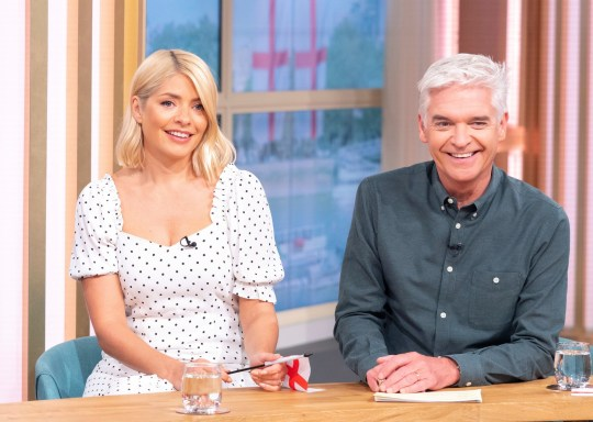 Editorial use only Mandatory Credit: Photo by Ken McKay/ITV/REX/Shutterstock (10326101bi) Phillip Schofield and Holly Willoughby 'This Morning' TV show, London, UK - 02 Jul 2019