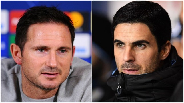 Frank Lampard has reacted to Arsenal's imminent move for Mikel Arteta